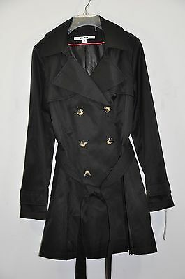 NWT Women's DKNY Double-Breasted Trench Coat W/ Detachable Hood. Sz.M $180