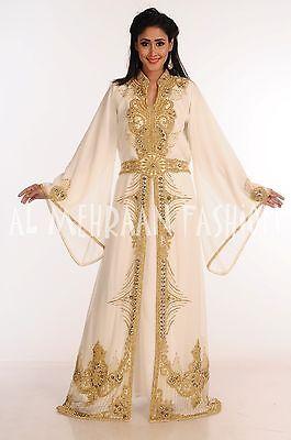 2017  MOROCCAN FANCY JILBAB ARABIAN DUBAI TAKSHITA WEDDING GOWN DRESS  162