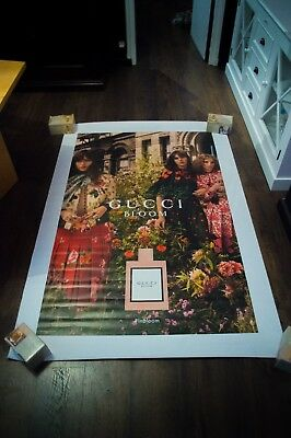 GUCCI BLOOM 4x6 ft Bus Shelter Original Vintage Perfume Fashion Poster 2018