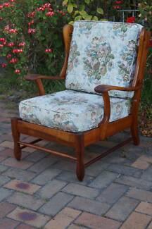Vintage TV Armchair Danish Style Mid Century Lounge Chair Retro