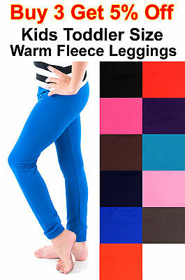 Toddler Kids Girl Baby Fleece Brush Stretch Warm Stretch Leggings Pants Trousers