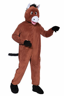 Horse Mascot Costume Jumpsuit Adult Standard Size Halloween Pony Brown New 69930