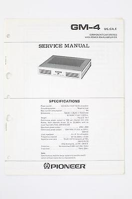 PIONEER GM-4 Originale Car Amplificatore Manuale di Servizio/Schema elettrico/ - Gm Schemi