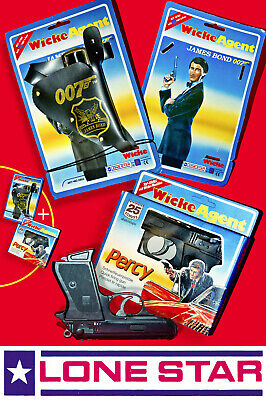 SET ☆ LONE STAR WICKE JAMES BOND 007 HOLSTER ☆ PERCY AGENT TOY CAP GUN 1980/90s