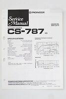 Pioneer Cs-787 Orig. Altoparlante Sistema Manuale Di Servizio/istruzioni/ - pioneer - ebay.it