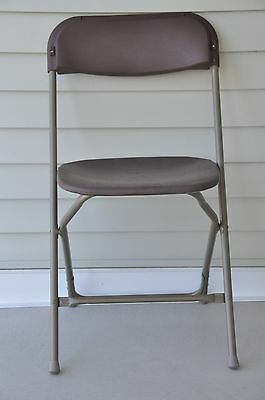 10 Plastic Folding Chairs Commercial Brown Stackable Party Chair HOLIDAY SALE