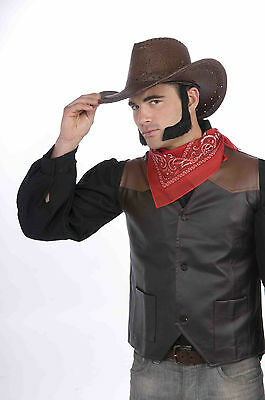 Chop Sideburns (Lamb Chop Pork Chop Black Sideburns Self Adhesive Cowboy Facial)