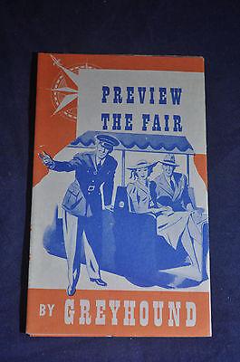 1940 Greyhound Map of the New York Worlds Fair