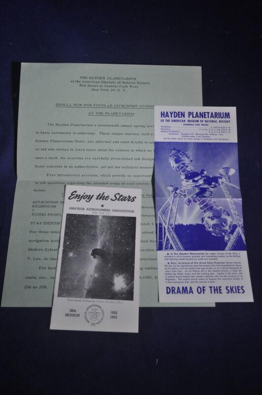 1953 Amateur Astronomers Association & Hayden Planeterium