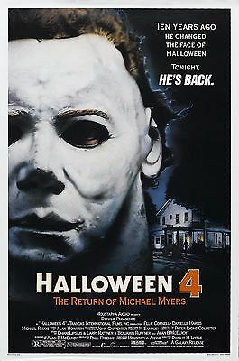 HALLOWEEN 4 The Return of Michael Myers Movie Poster Horror (1988) (The Movie Halloween Returns)