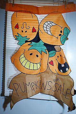 Pumpkins For Sale House Flag Halloween Decorative 28