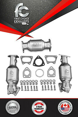 For 2003 2004 2005 2006 Acura MDX 3.5L Catalytic Converter Bank 1/2 and Rear Set