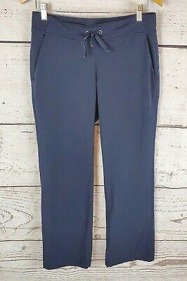 Athleta Pants Womens 6 Environment Blue Nylon Pull String Waist Activewear Workout