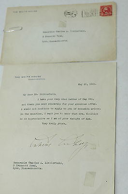 Authentic 1925 President Calvin Coolidge letter on White house stationary