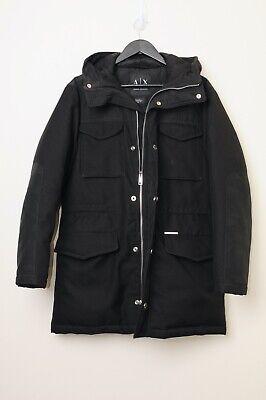 Armani Exchange Coat Black Mens XS White Duck Down Feather