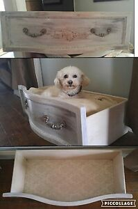 Repurposed antique pet bed
