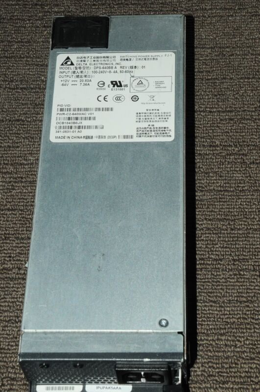 Cisco PWR-C2-640WAC Power Supply for 2960X 3650 Series 1YrWty TaxInv