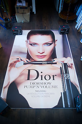 DIOR BELLA HADID  4x6 ft Bus Shelter Original Fashion Advertising Poster 2017