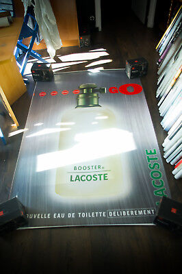 LACOSTE BOOSTER 4x6 ft Bus Shelter Original Fashion Advertising Poster 1996