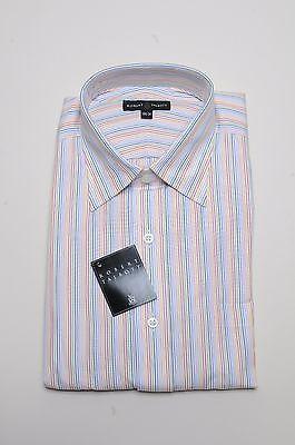 Robert Talbott Dress Shirt - Multi-Color Stripe - Med. Spread Collar/Barrel - Barrel Cuff Striped Dress Shirt