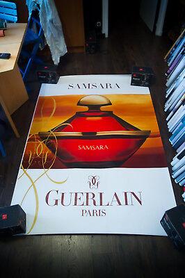 GUERLAIN SAMSARA BOTTLE 4x6 ft Shelter Original Vintage Fashion Poster