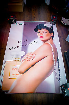 CHANEL KATE MOSS 4x6 ft Bus Shelter Original Vintage Fashion Poster 2005