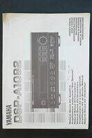 Yamaha Dsp-a1092 Av Amplifier Original Manual/user Manual Top Zust - yamaha - ebay.co.uk