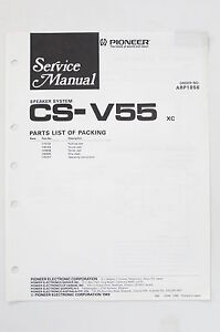 Pioneer-cs-v55-ORIGINALE-ALTOPARLANTE-SISTEMA-MANUALE-DI-SERVIZIO-ISTRUZIONI