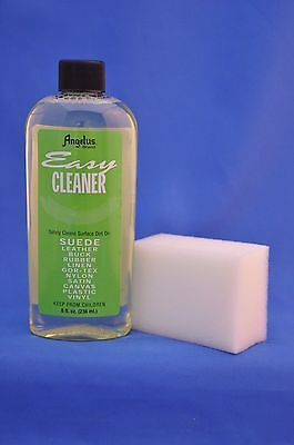 Angelus Easy Cleaner- Leather, Suede, Leather Shoe Sneaker Cleaner 8oz w/ Sponge