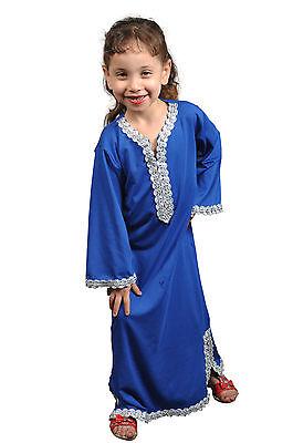 Mädchen Kleid Kinder Kaftan Faschingskleid Tanzkleid aus1001 Nacht blau - KK0193