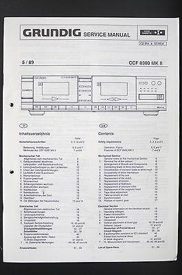 GRUNDIG CCF 8300 MK II Cassette Deck Service-Manual/Schaltplan/Diagram o94 online kaufen