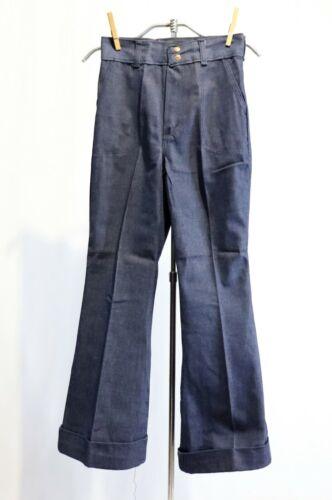 Vintage Wrangler Jeans Pants Denim Dead Stock girls sz 12 Bell Bottoms Cuffs Hig