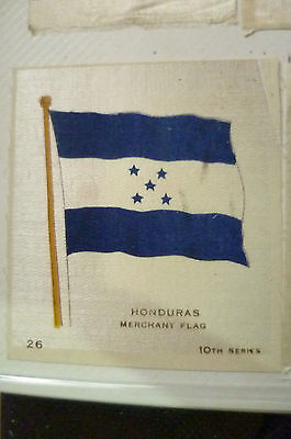 B.D.V. Cigarettes Silk FLAG- HONDURAS MERCHANT FLAG 10th Series (apx. 7x6 cm)