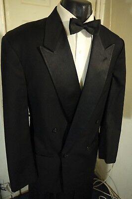 Armani Tuxedo - GIORGIO ARMANI SIZE 40R BLACK DOUBLE BREASTED TUXEDO