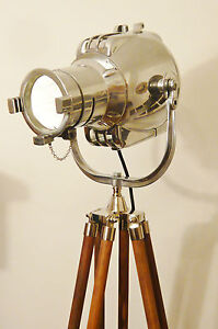VINTAGE-FILM-MOVIE-LIGHT-ANTIQUE-ART-DECO-SILVER-ALESSI-FLOOR-LAMP-EAMES-THEATRE