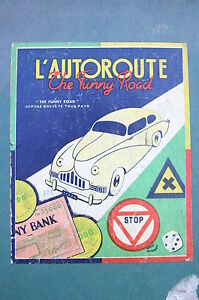 jeu ancien l autoroute the funny road jeu des ann es 50 cartes tapis de jeu ebay. Black Bedroom Furniture Sets. Home Design Ideas
