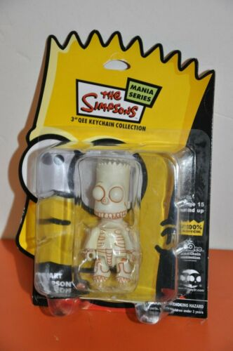 "BART SIMPSON ""MANIA SERIES= 3 QEE KEYCHAIN COLLECTION""by DIAMOND COMIC/2007"