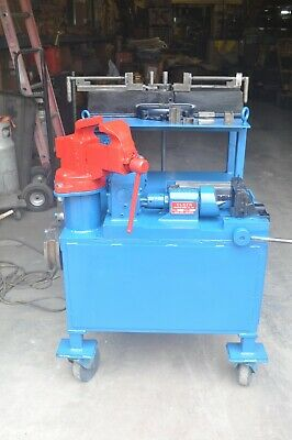 Tube Fabrication Cart With Parker 624 Tube Bender Olsen 50 Power Flare