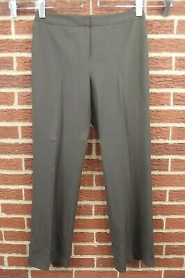 Lafayette 148 NY Womens Sz 8 Pants Brown Slacks Wool Menswear Dress Suit Career Suiting Menswear Pant