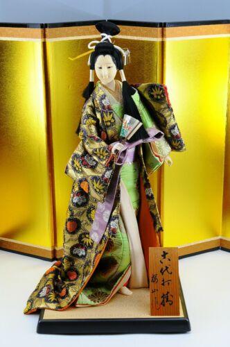 "Antique Japanese Geisha Doll in Kimono 18"" 46cm Vintage 50-60 years old"