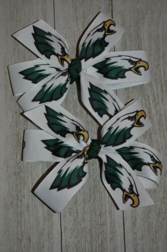 Set of Two Philadelphia Eagles Hair Bows Eagles Bows