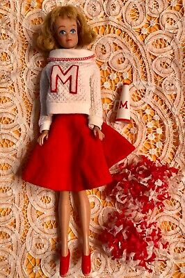 Vintage Barbie: MIDGE & CHEERLEADING OUTFIT 1964-65 #0876 - Barbie Cheerleading