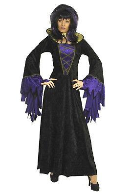 Damen Kostüm HEXE Vampir Queen of Darkness Halloween Kleid Gothic mittelalter (Ness Alt Kostüme)