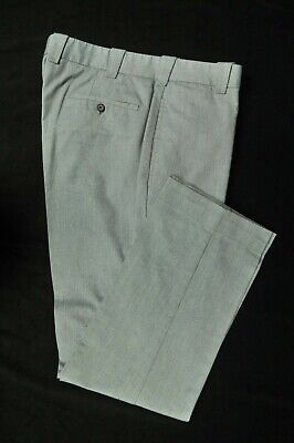 INCOTEX IVORY 100% Cotton Light Blue FF Dress/Casual Pants 38R Canada
