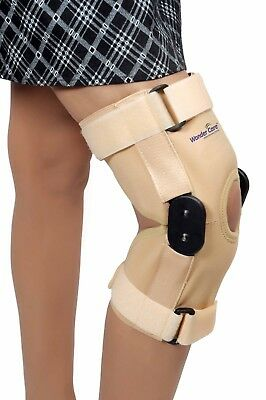 WC_Adjustable Hinged Elastic Knee Brace open Patella Compression Support K101 ()