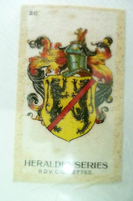 B.D.V. Cigarettes Silk- HERALDIC SERIES, No.20 (Org*, apx. 7x4.5 cm)