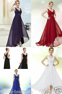 Long-Maxi-Cocktail-Evening-Bridesmaid-Formal-Party-Prom-Dress-Gown-Size-8-18-UK