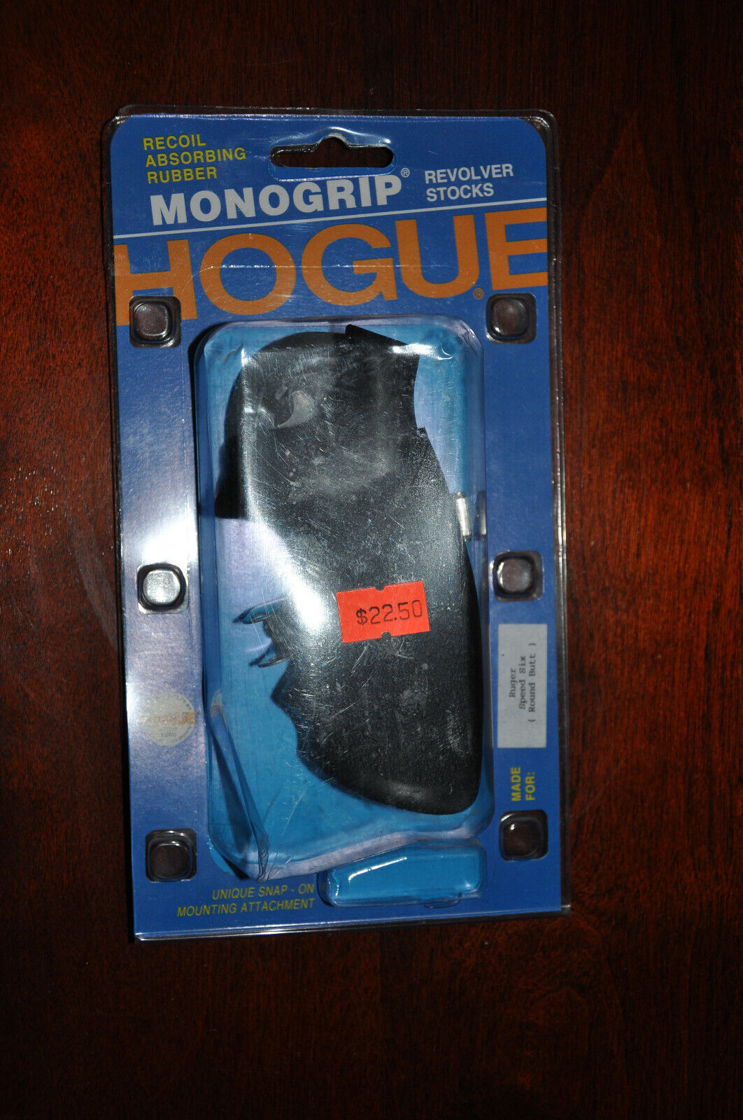 Hogue 88000 Ruger Speed-six Rubber Monogrip Black - $20.00