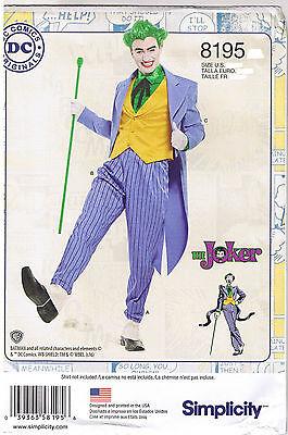Herren Joker Kostüm Dc Comics Simplicity Kostüm Nähen - Herren Kostüm Nähen Muster