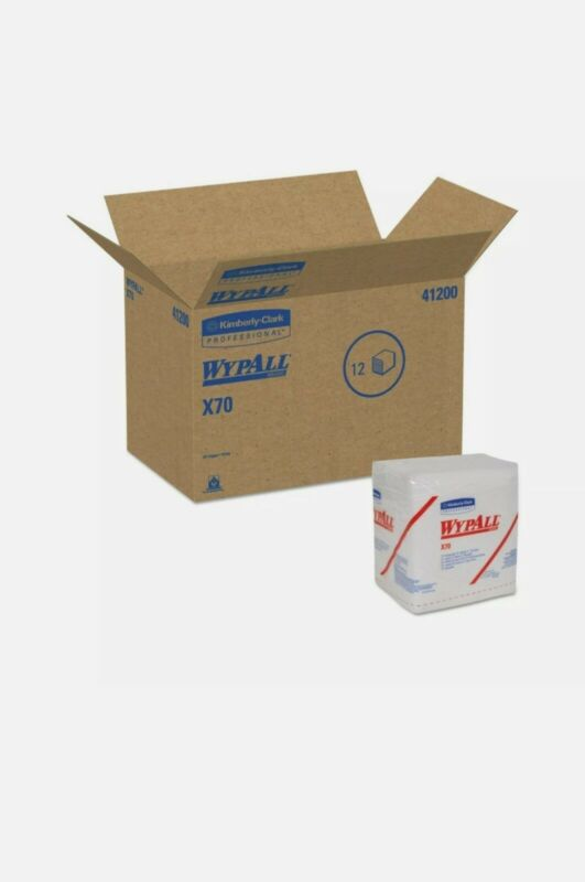 912 Kimberly-Clark WypAll X70 Reusable Paper Towel Durable Absorb Wipers 41200